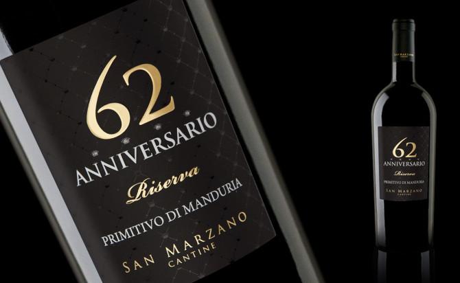 Rượu vang Ý 62 Anniversario Primitivo di Manduria