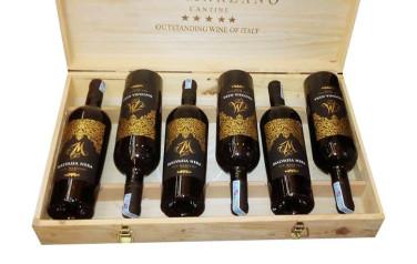Rượu vang đỏ Malvasia Nera M Hộp gỗ 6 chai