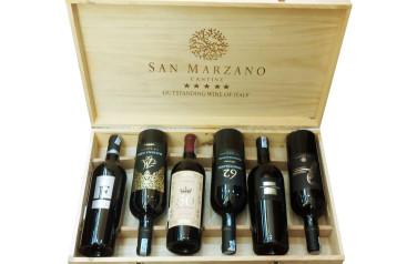 Rượu vang Ý Cantine San Marzano hộp gỗ 6 chai