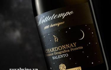 Rượu vang Nottetempo 100 Barriqua Chardonnay Salento