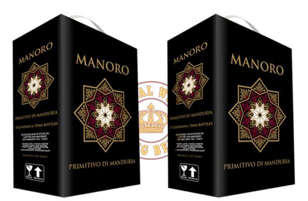 Vang bịch 3 lít Ý Manoro Primitivo Di Manduria