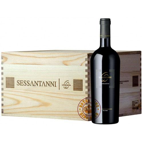 Rượu vang Ý 60 Sessantanni thùng gỗ 6 chai