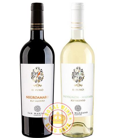 Rượu vang Ý IL Pumo trắng đỏ