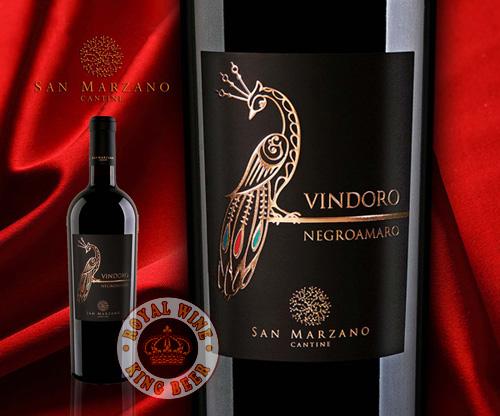 Rượu vang Vindoro Negroamaro con Công