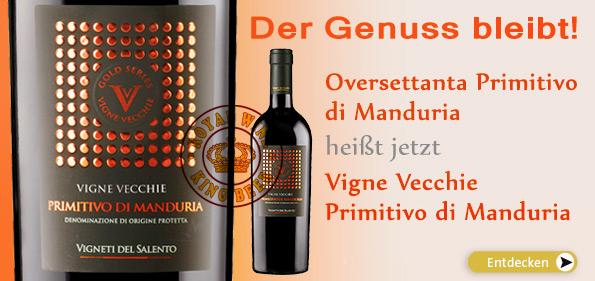 Rượu Vang Vigne Vecchie Primitivo