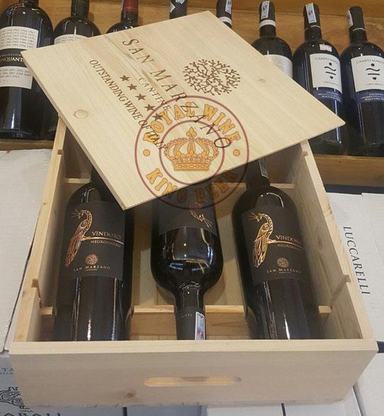 Rượu vang Ý con Công Vindoro hộp quà