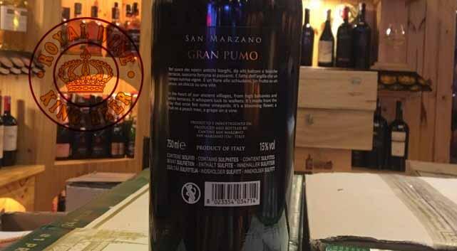 Rượu vang Ý Gran Pumo