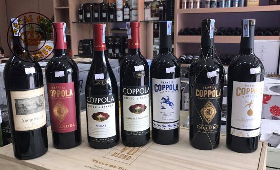 Các nhãn rượu vang Coppola