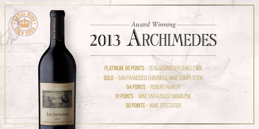 Rượu vang Mỹ Archimedes Cabernet Sauvignon 2013