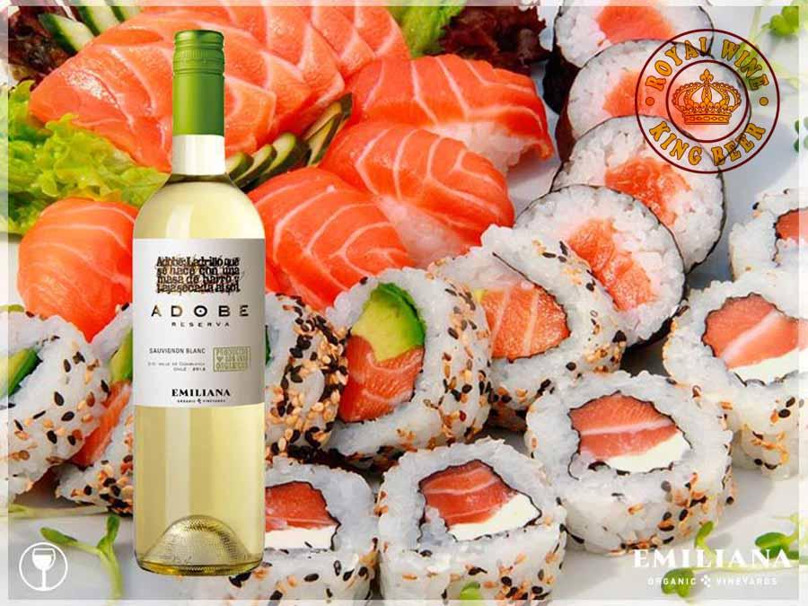 Rượu vang Chile sạch Emiliana Adobe Sauvignon Blanc