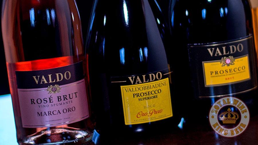 Rượu vang sủi Valdo Rose Brut