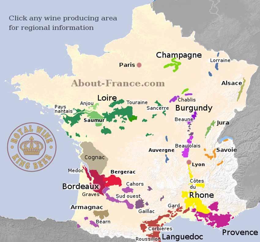 Các vùng nho của nước Pháp