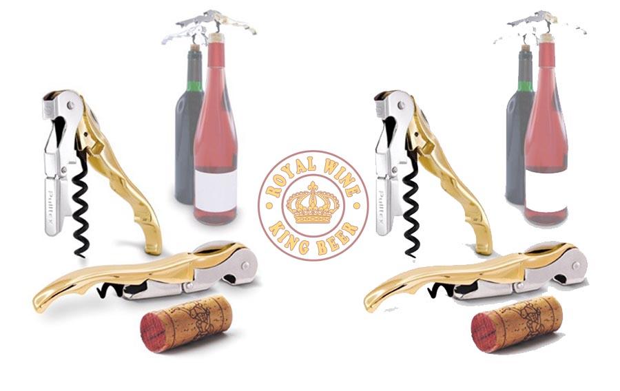 Mở rượu vang mạ vàng Pulltex