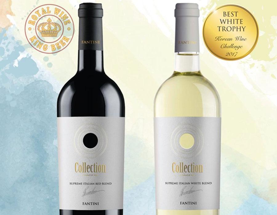 Rượu vang Ý Collection Fantini nước trắng