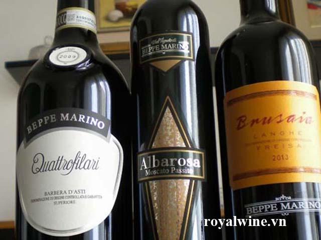 Rượu vang Albarosa Moscato Passito