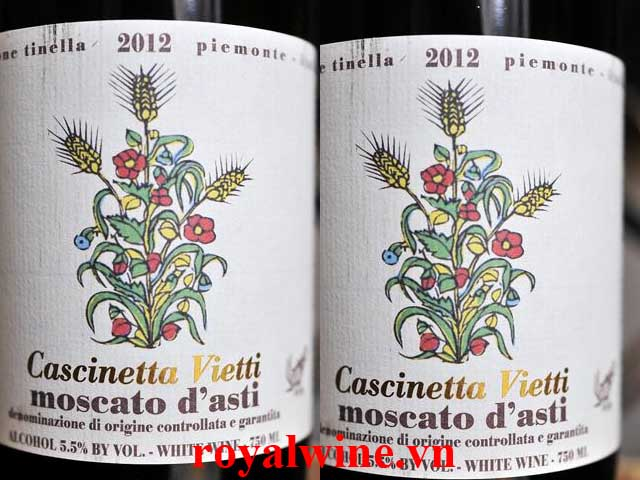 Rượu vang Cascinetta Vietti Moscato