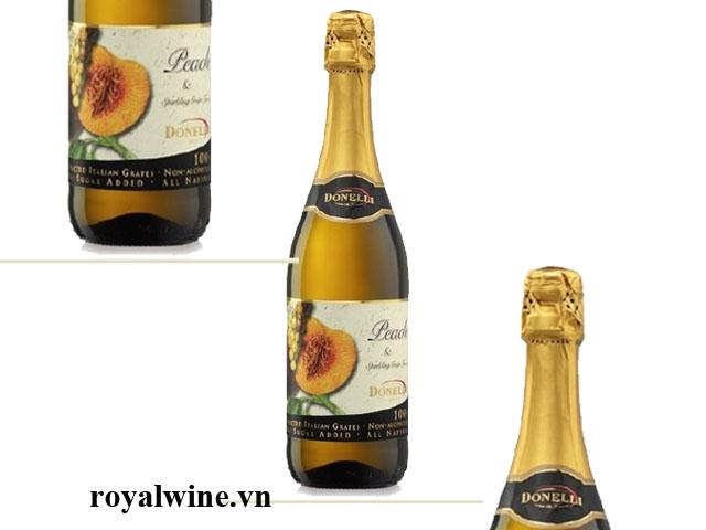 Rượu hoa quả Donelli Peach Grapes Juice