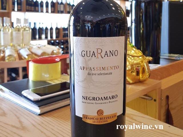 Rượu vang Guarano Appassimento Negroamaro Salento