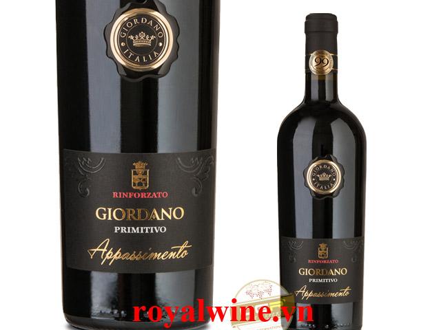 Rượu vang Giordano Appassimento Primitivo