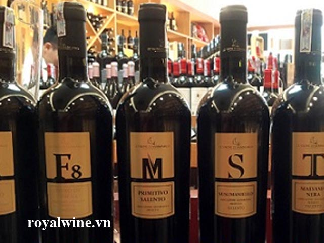 Rượu vang M Primitivo Salento