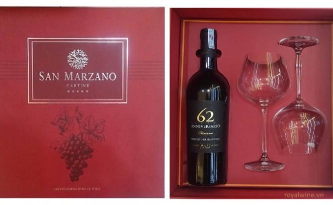 Rượu vang 62 Anniversario riserva Hộp Quà