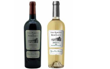 Rượu vang Les Portes de Bordeaux 2016 (Đỏ – Trắng)