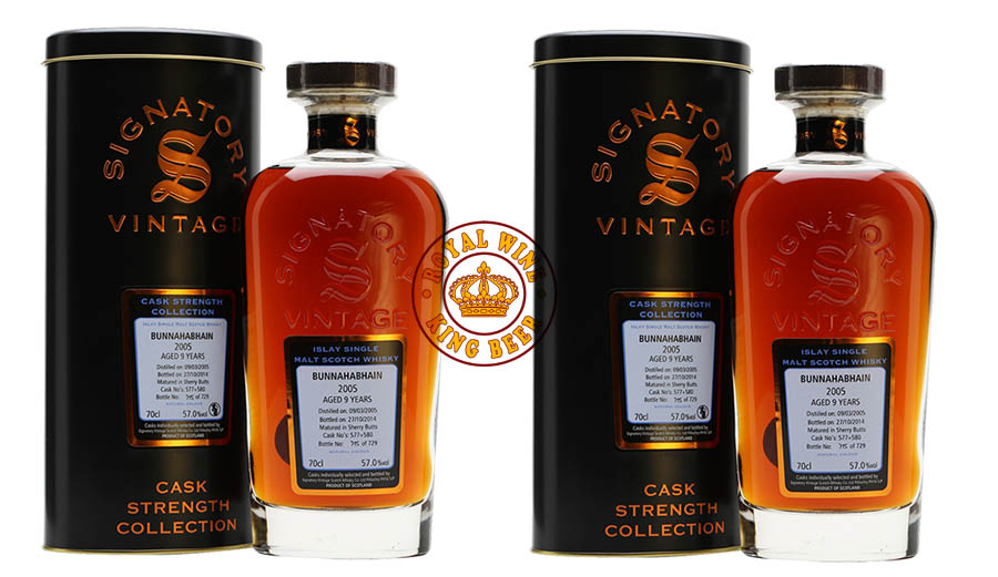 Rượu Signatory 9 Bunnahabhain Single Malt Scotch Whisky 2005 9 Year Old